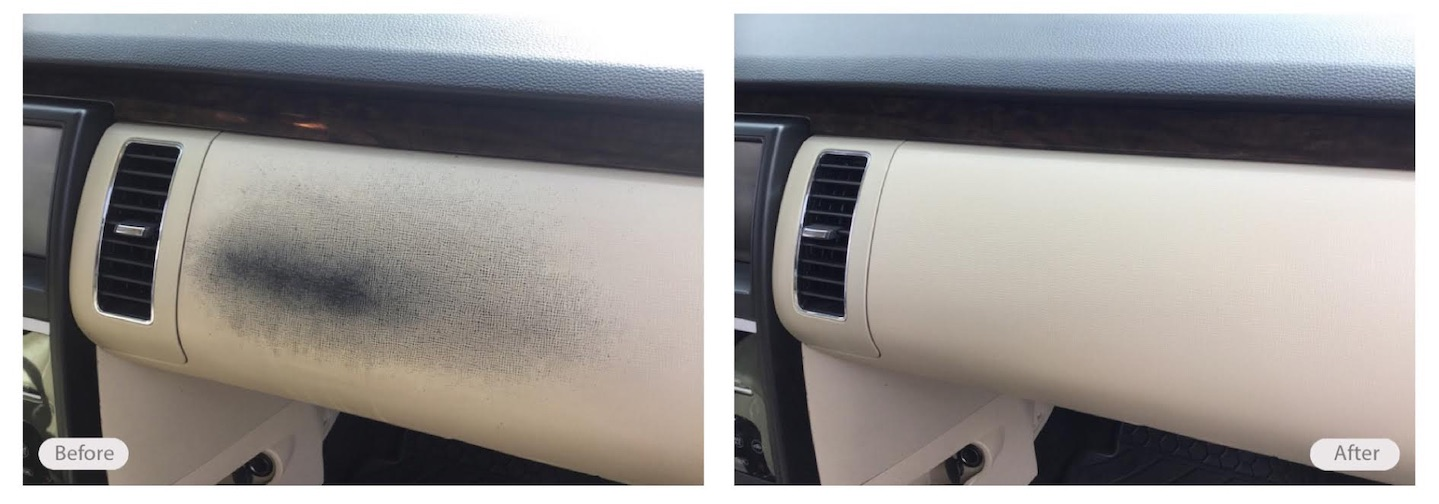 Worn car glovebox looks like new again