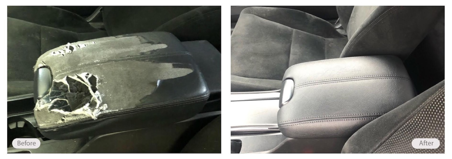 From ratty to rad, car armrest retoration