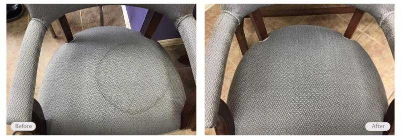 Restaurant chair upholstery stains removed
