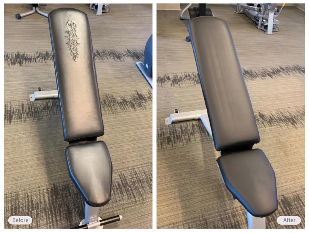 Gym equipment vinyl restoration