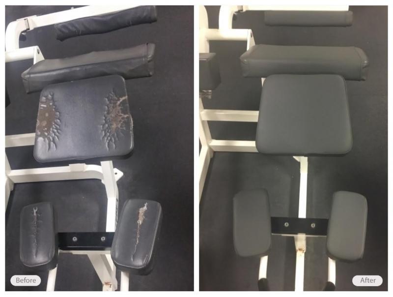 Vinyl gym equipment restoration
