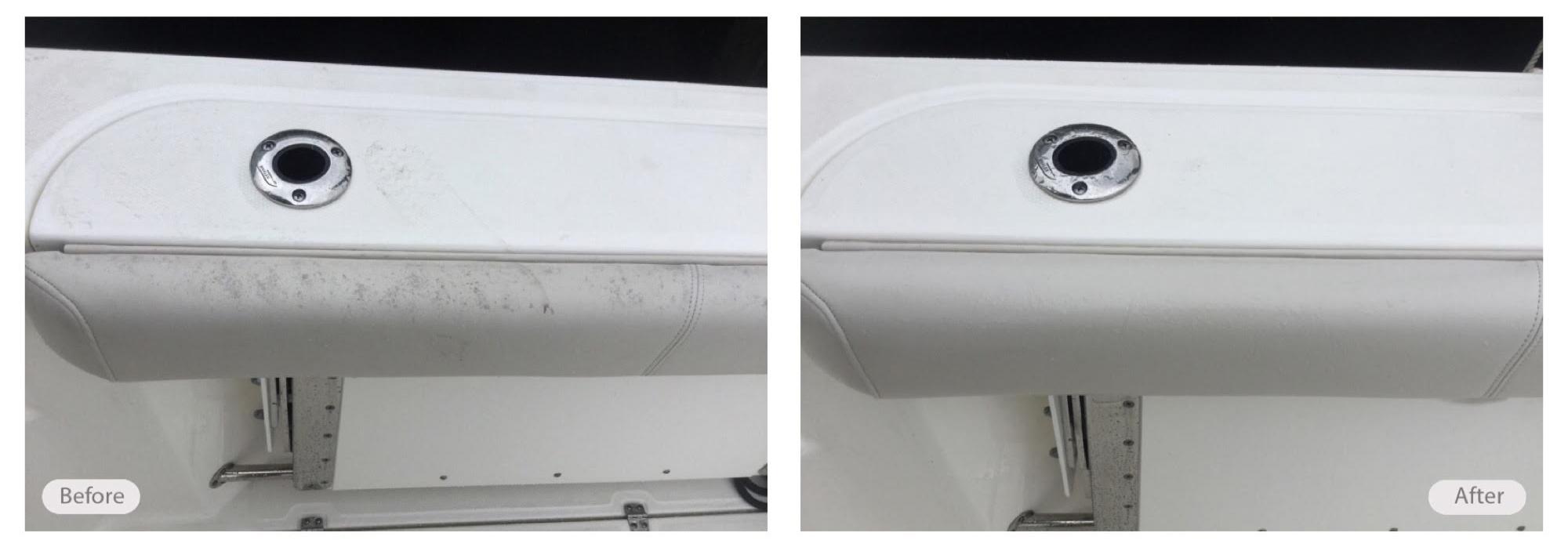 Marine vinyl and plastic refurbished
