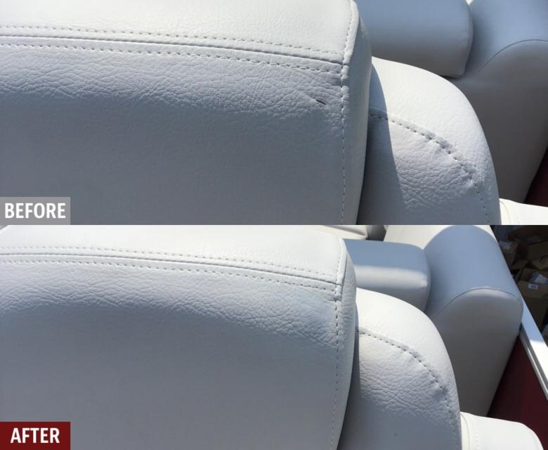 Suncatcher pontoon seat repair